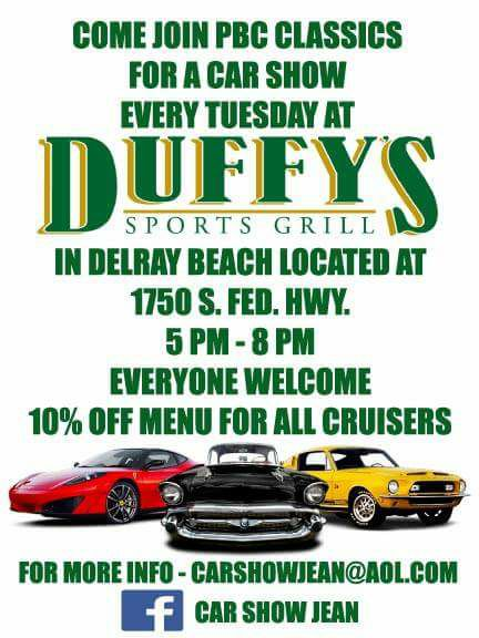 car show in delray beach florida on tuesday