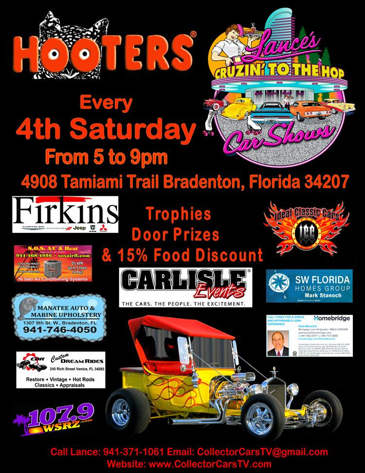 Car show in Bradenton Florida 4th Saturdays