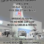 Classic muscle car show at TA Truck Stop in Vero Beach Florida on 3rd Mondays
