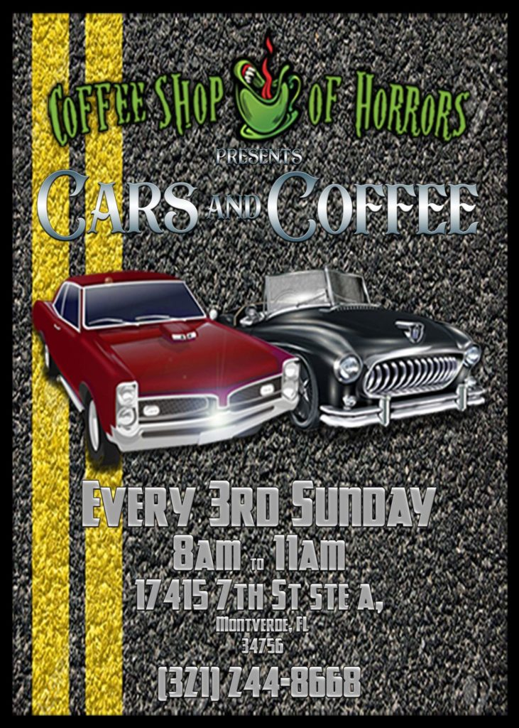 Cars & coffee in Monteverde Florida on 3rd Sundays