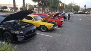 Saturday car show in Dunedin Florida