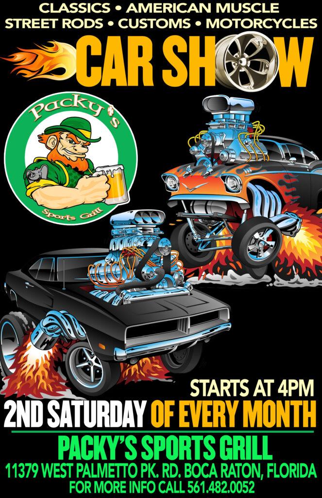 Car show in Boca Raton Florida on Saturdays