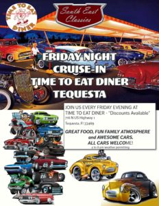 Car show in Tequesta, Florida on Fridays