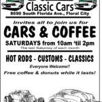 Car show in Floral City Florida on Saturdays