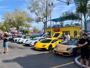 Car show at Old Town Kissimmee Florida on Sunday