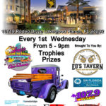 Car show in Lakewood Ranch Florida on Wednesday