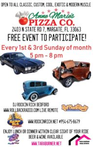 car show in margate florida on sundays