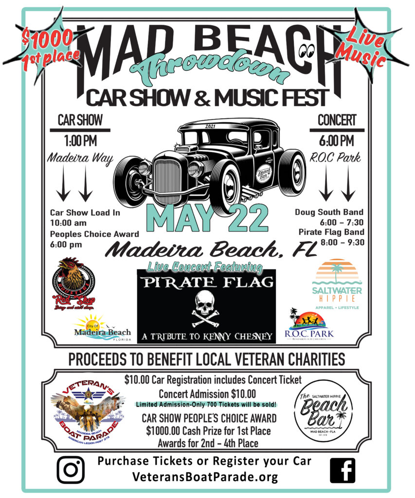 car show in madeira beach florida on may 22
