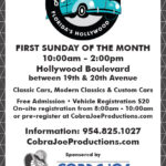 car show in hollywood florida on sunday